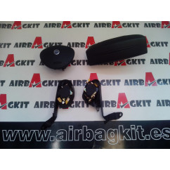 2005-2010 KIT AIRBAGS COMPLETO FIAT DOBLO 1ª GEN RESTYLING. 2005 - 2010 (A. SALP. CON TAPA)