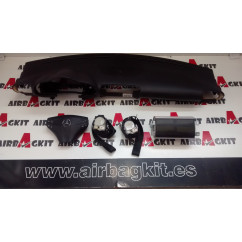 MERCEDES CLASE C W203 NEGRO 2000 -2007 KIT AIRBAGS COMPLETO MERCEDES-BENZ CLASE C 2ª GENER. W 203 2000 - 2008