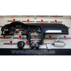 AUDI A6 C6 4F 2005-2010 NEGRO KIT AIRBAGS COMPLETO AUDI A6 C6 (4F) 2004 - 2011