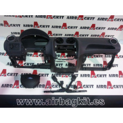 FORD FIESTA 2005-2007 GRIS KIT AIRBAGS COMPLETO FORD FIESTA 5ª GENER. 2005 - 2007 (RESTY)