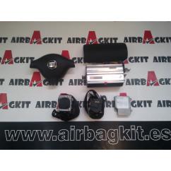 SEAT LEON 1 1999- 2004 KIT AIRBAGS COMPLETO SEAT LEON 1 1999-2000-2001-2002-2003-2004-2005-2006